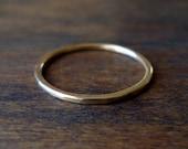 Gold Ring- Skinny Stacker - Handmade