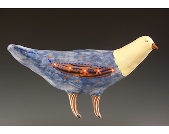 Ceramic Wall Hanging Bird by Jenny Mendes - Ozzie