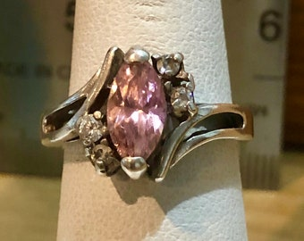 Antique Sterling Silver Classic Filigree Moth Ring Size 6 Ring