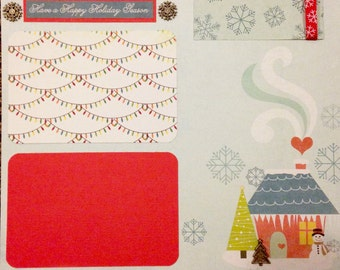 Christmas 12x12 Scrapbooking Kit 2 Page Layout Premade