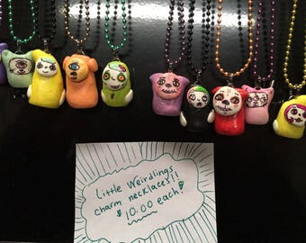 Little weirdlings , charm necklaces