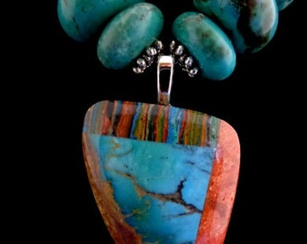 Magnificent Kingman Turquoise Necklace