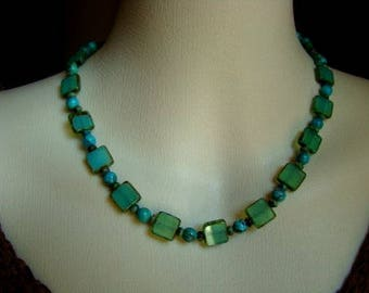 Turquoise and Glass Choker