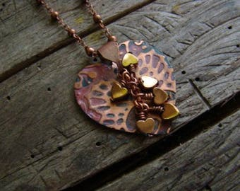 Copper Hearts Necklace