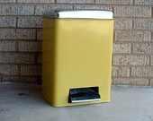 Yellow Trash Can with Flip Up Top by Lincoln Beautyware
