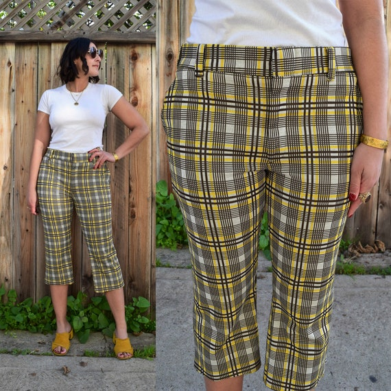 60s 70s Vintage Donegal Double Knit Cropped Pants