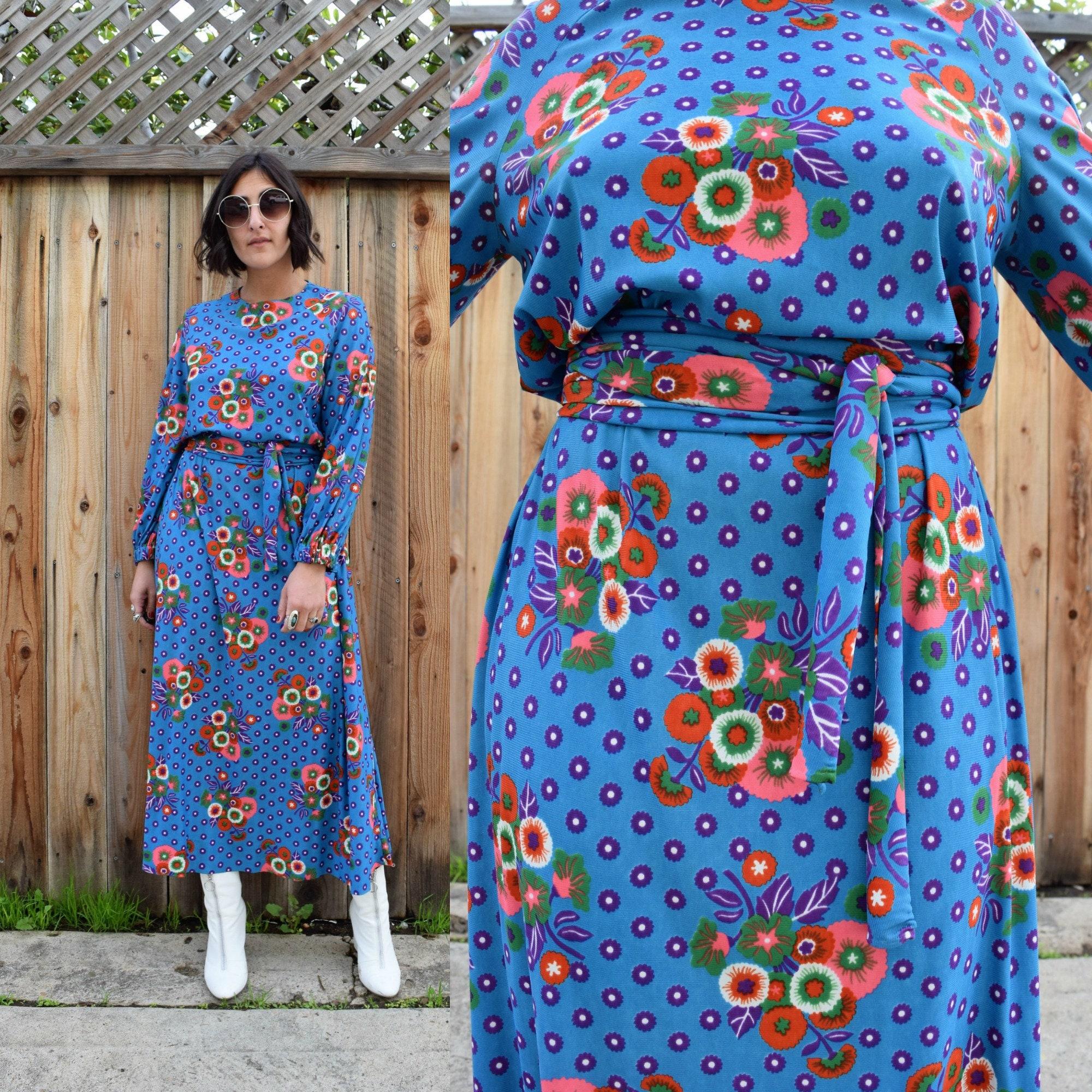 839730595c316 Beautiful Floral Print Maxi Dress - raveitsafe