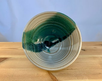 Stoneware Bowl -- blue and green