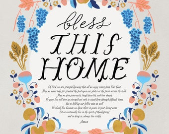 Bless This Home // Fawnsberg Art Print
