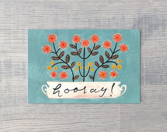 Hooray Planter // Single Card // Fawnsberg Stationery