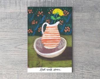 Get Well Marigold // Single Card // Fawnsberg Stationery
