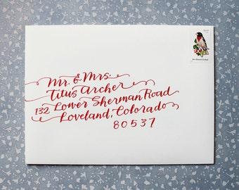 Hand Calligraphy Envelope Addressing // Weddings and Bar Mitzvahs // Patricia Mumau