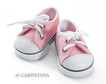 "Pink Converse Sneakers - Shoes fits 18"" Dolls like American Girl or Our Generation or Journey Girl Dolls"