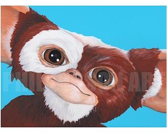 Original Gizmo 12 x 16 Art Print Mogwai Gremlins Poster