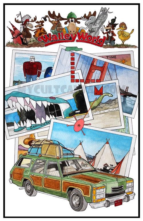 Original National Lampoons Vacation 11 X 17 Art
