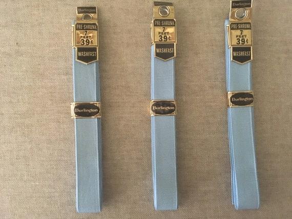 Vintage Burlington Light Blue Seam Binding Grosgrain Ribbon Lot of 3 at 7 feet each New in package