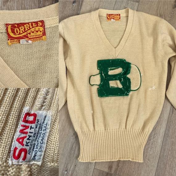 1940s Rare Sand Knitting Mills Co-Yellow & Green C