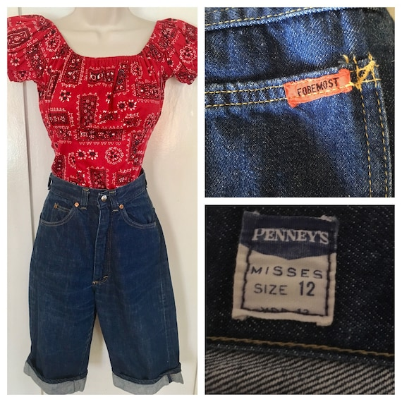 1950s PENNEYS FOREMOST High Waist Denim Clam Digge