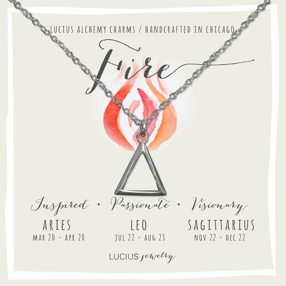 Alchemy Jewelry Alchemy Necklace Alchemy Symbols Aries Etsy