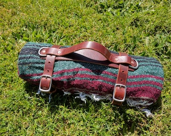 Leather Blanket Carrier / Bed Roll Strap