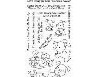 My Favorite Things Playful Pups stamp and die set