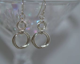 Hand Created Argentium Silver Earrings