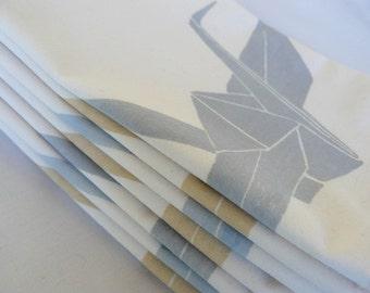 Dye Printed Origami Crane Napkins (set of 4)