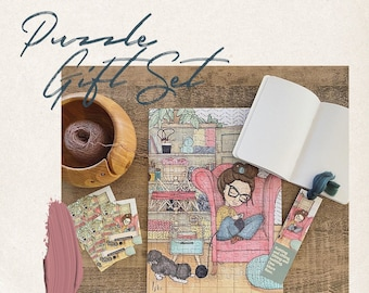 Knitting Puzzle Gift Set | Pearl + Stitch