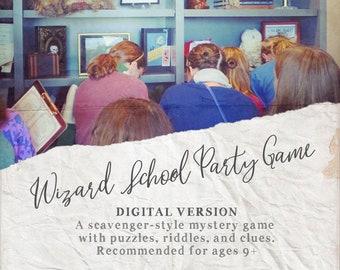 Wizard School Hunt Party Game - DIGITAL DOWNLOAD