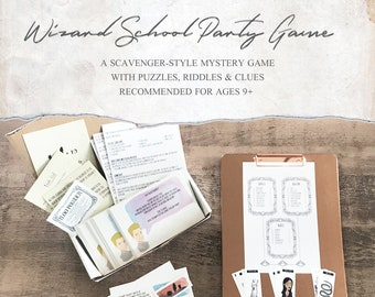 Wizard School Party Game Kit