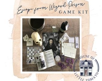 Escape from Wizard Prison Escape Room Game Kit - BLACKLIGHT REACTIVE CLUES
