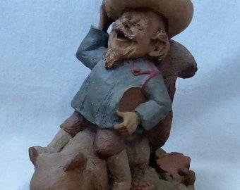 Vintage Cairn Studio Tom Clark Gnome Woodspirit Buffalo Bill  Re-Signed