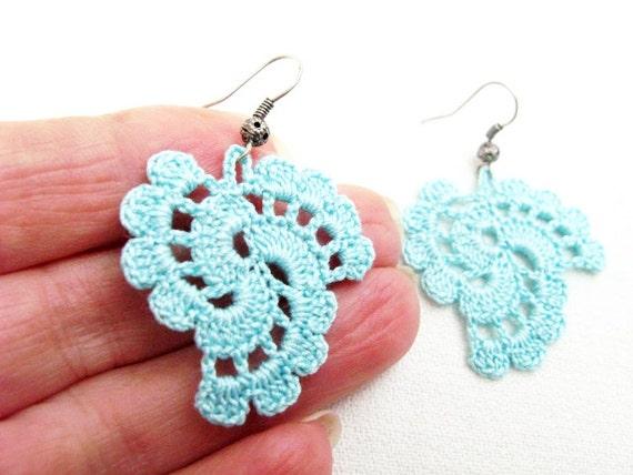 Crochet Earrings Pattern Pdf Tutorial Crochet Wedding Etsy