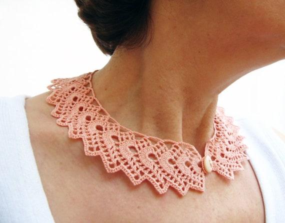 Instant Download Crochet Collar Pattern Tutorial Crochet Etsy