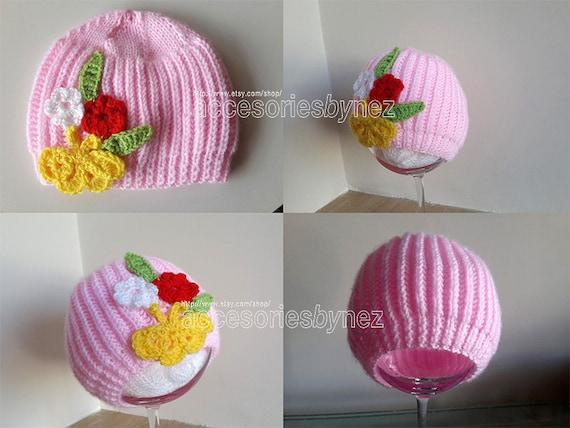 Knit Baby Hat Patternnewborn Baby Hat Pattern Baby Shower Etsy