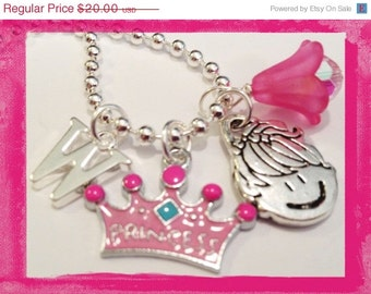 INITIAL NECKLACE - Personalized Charm Necklace for your Princess