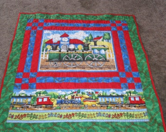 Arriving at the Station Train Quilt