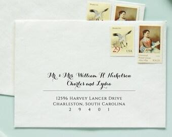 Envelope Template, Envelope Addressing Template, Digital Calligraphy, Calligraphy Template, Envelope Addressing, Calligraphy Envelopes