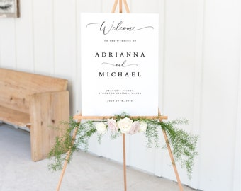 INSTANT DOWNLOAD, 24x36 Editable Wedding Welcome Sign, Wedding Welcome Sign Template, Templett, Wedding and Reception Decor