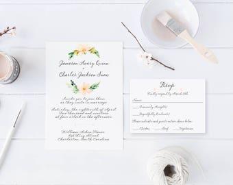 Southern Letter Handwritten Wedding Invitation