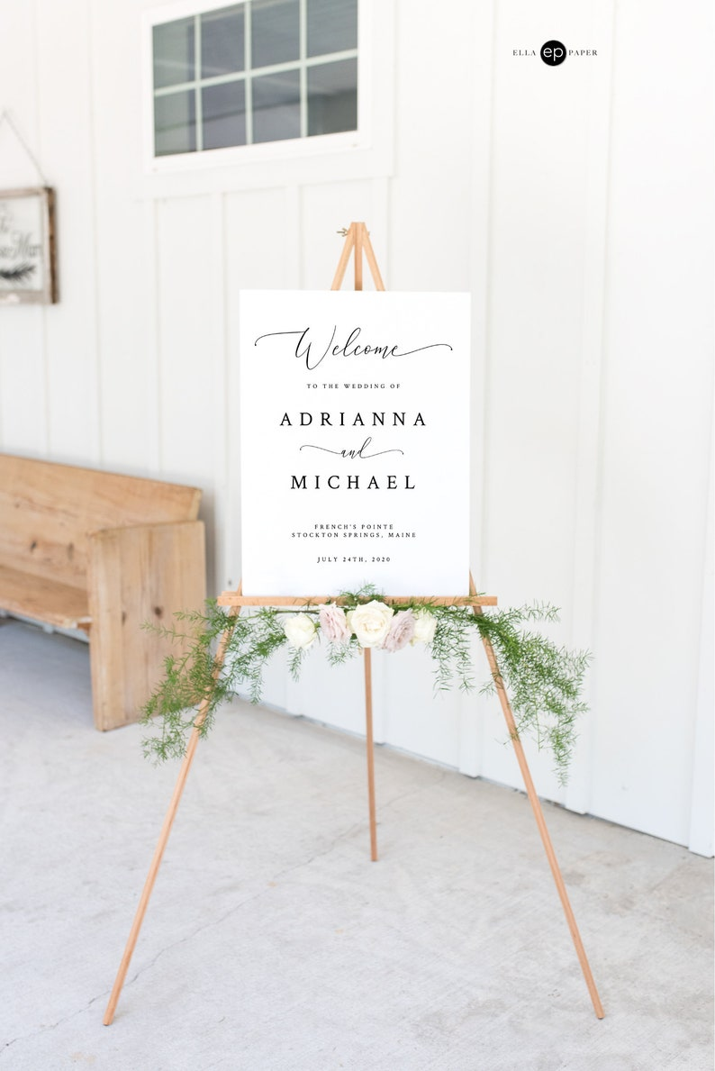 INSTANT DOWNLOAD 18x24 Editable Wedding Welcome Sign Wedding image 0