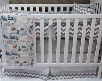 Mountain Crib Set Etsy
