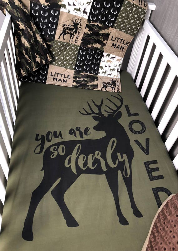 Baby Nursery Bedding Set Baby Woodland Dear Moose Etsy