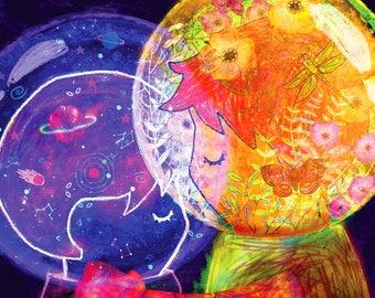 Otherworldly Attraction - Art Print