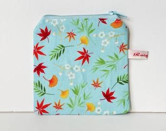 Mini Knitting case  - FALL LEAVES