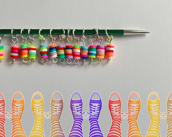 Sock Stitch Markers - SUGAR POPS
