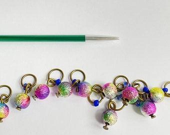 Sock stitch markers  -  MINI FESTIVAL of LIGHTS