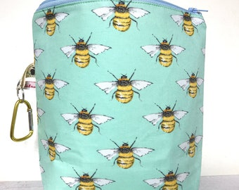 knitting bag project bag for knitting crochet bee gifts zipped project bag BUSY BEE bag