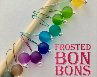 Knitting Stitch Markers - FROSTED BON BONS