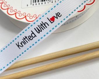 Knitting labels Ribbon PER METRE Grosgrain 16mm